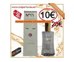 Perfume Mujer Equivalente N11 ANANIS ANANIS CACHARRELLES alta gama 10€ 100ml
